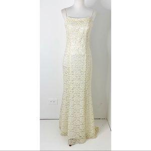 Dave & Johnny sequin lace bridal romantic dress